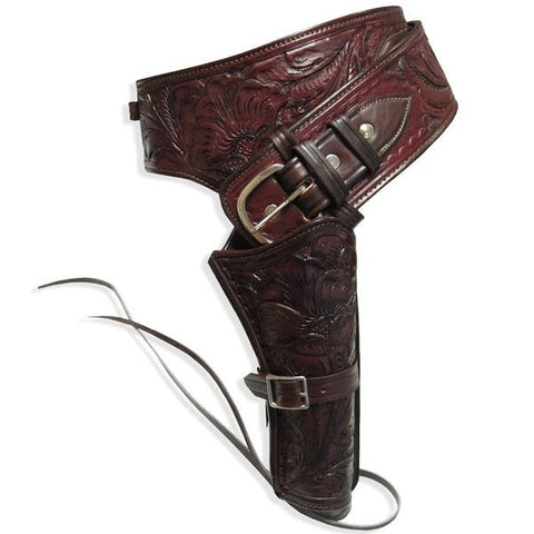 Leather Western Holster - Reddish Brown - Single Rig, Size 38, Caliber 38-357
