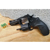 "Zoraki RX2 Black 3"" Barrel - Blank Front Firing Gun Revolver Set - Includes 25 Rounds of .380 9mm Ammo & Holster - MaxArmory"