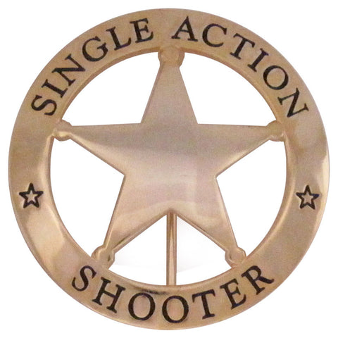 Single Action Shooter Badge - MaxArmory