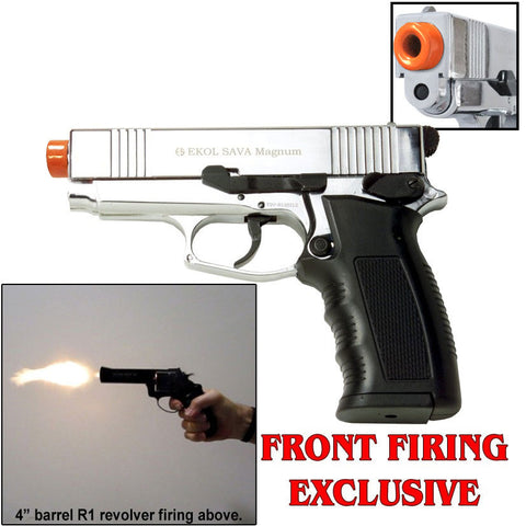 Sava Chrome - Blank Front Firing Replica Gun