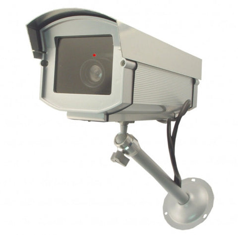 Dummy Camera in Outdoor Housing w/ Light