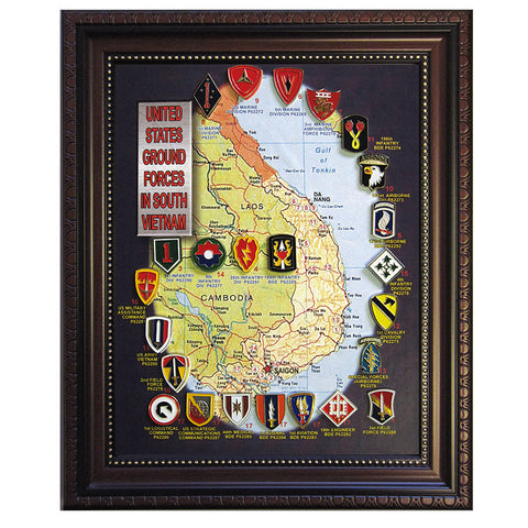 United States Ground Forces in South Vietnam Pin Collection (24 Badges)