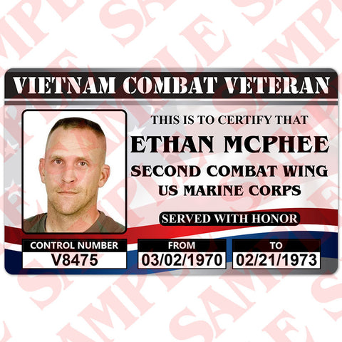 United States Combat Veteran (Any War) - ID Card