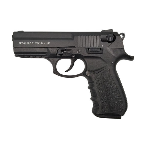 Zoraki Stalker blank gun 2918 model features smooth slide action and realistic weight and feel that make it a great training or theatrical replica. Includes 18 round magazine.