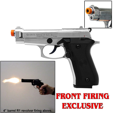 V85 REV2 Chrome - Blank Front Firing Replica Gun
