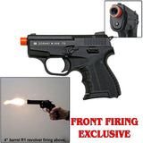 (FREE 25 RDS OF AMMO) Zoraki 906 Black - Front Fire 9mm Blank Firing Gun