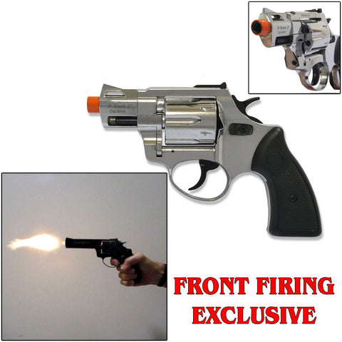 "Zoraki RX2 Chrome 2"" Barrel - Blank Firing Revolver - INCLUDES FREE TRAINING GUN"