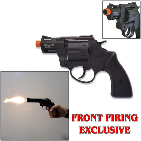 "Zoraki RX2 Black 2"" Barrel - Blank Firing Revolver - INCLUDES FREE TRAINING GUN"