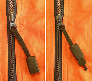 ZIPPER-PULL HIDDEN HANDCUFF KEY