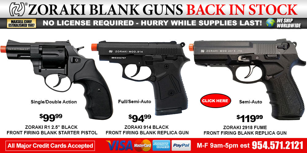 Zoraki 906 Blank Gun Lowest Price Sale