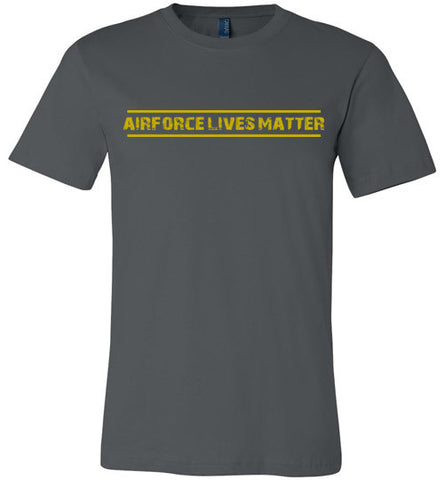 Air Force Lives Matter (in Yellow) - Men's Tee by TroopsLivesMatter.com