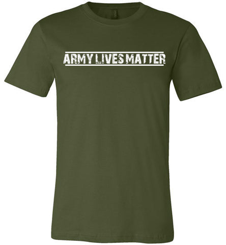 Army Lives Matter (in White) - Men's Tee by TroopsLivesMatter.com