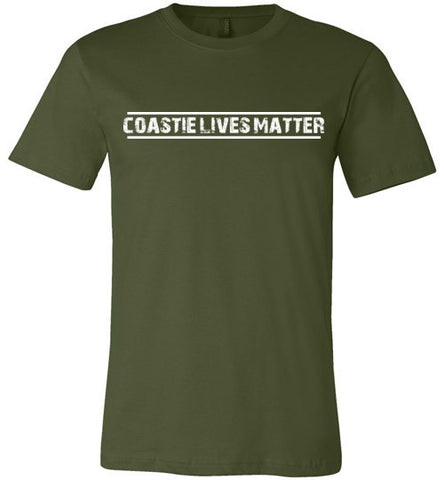 Coastie Lives Matter (in White) - Men's Tee by TroopsLivesMatter.com