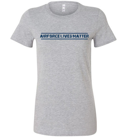 Air Force Lives Matter (in Blue) - Women's Tee by TroopsLivesMatter.com