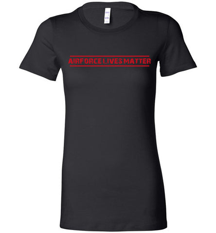 Air Force Lives Matter (in Red) - Women's Tee by TroopsLivesMatter.com