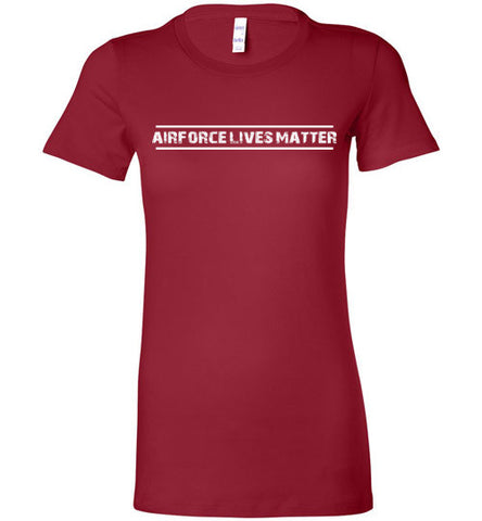 Air Force Lives Matter (in White) - Women's Tee by TroopsLivesMatter.com