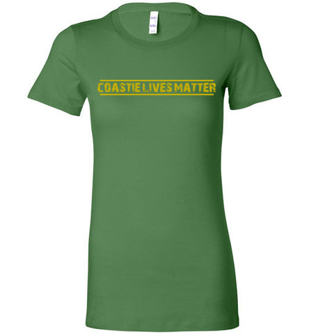 Coastie Lives Matter (in Yellow) - Women's Tee by TroopsLivesMatter.com