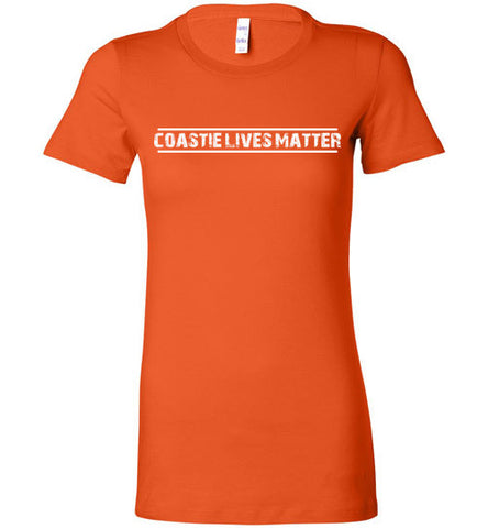 Coastie Lives Matter (in White) - Women's Tee by TroopsLivesMatter.com