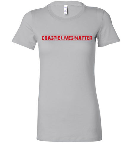 Coastie Lives Matter (in Red) - Women's Tee by TroopsLivesMatter.com