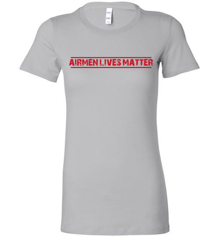 Airmen Lives Matter (in Red) - Women's Tee by TroopsLivesMatter.com