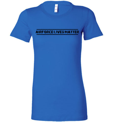 Air Force Lives Matter (in Black) - Women's Tee by TroopsLivesMatter.com