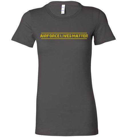 Air Force Lives Matter (in Yellow) - Women's Tee by TroopsLivesMatter.com