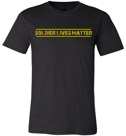 Soldier Lives Matter (in Yellow) - Men's Tee by TroopsLivesMatter.com