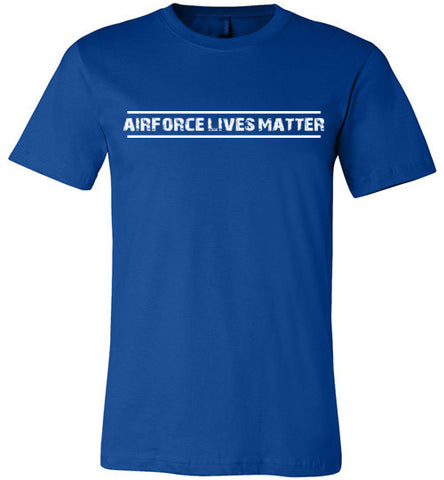 Air Force Lives Matter (in White) - Men's Tee by TroopsLivesMatter.com