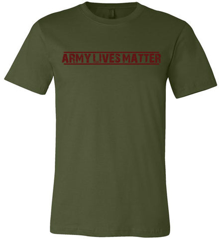 Army Lives Matter (in Dark Red) - Men's Tee by TroopsLivesMatter.com