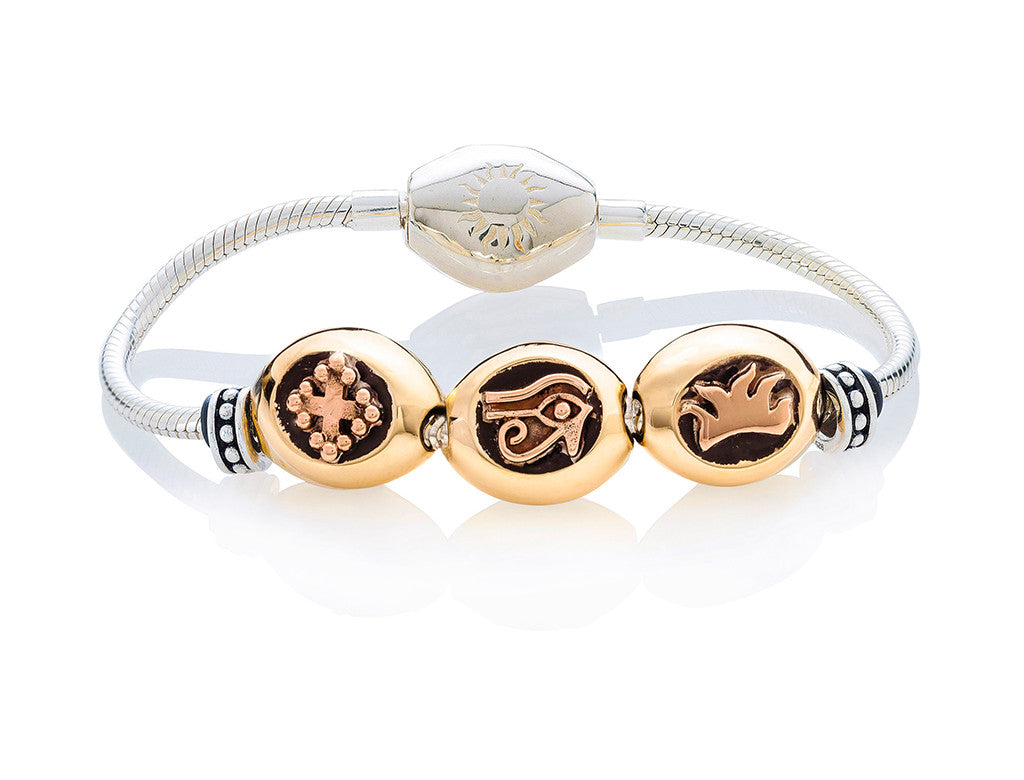 Golden Classic Bracelet on Silver