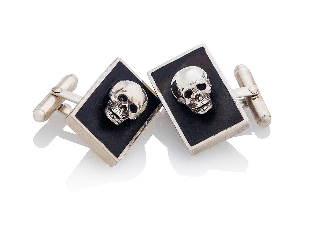 Letting Go Skull Cufflinks
