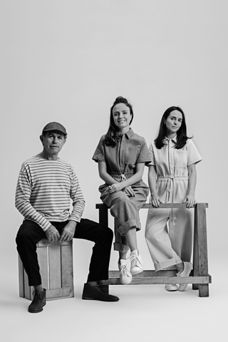 Sisters Arianne and Joanne Engelberg and their father, founders of The New Denim Project
