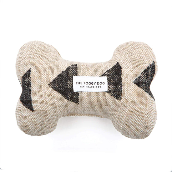 Amani Sand Dog Squeaky Toy from The Foggy Dog