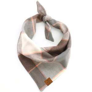 Aspen Plaid Flannel Dog Bandana from The Foggy Dog
