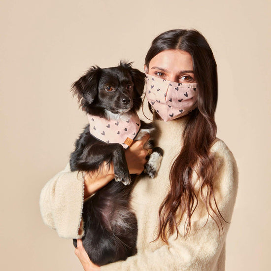 Be Mine Face Mask and Bandana Set from The Foggy Dog
