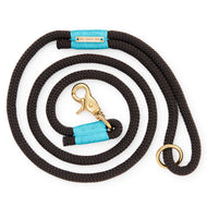 Black and Aqua Climbing Rope Dog Leash from The Foggy Dog