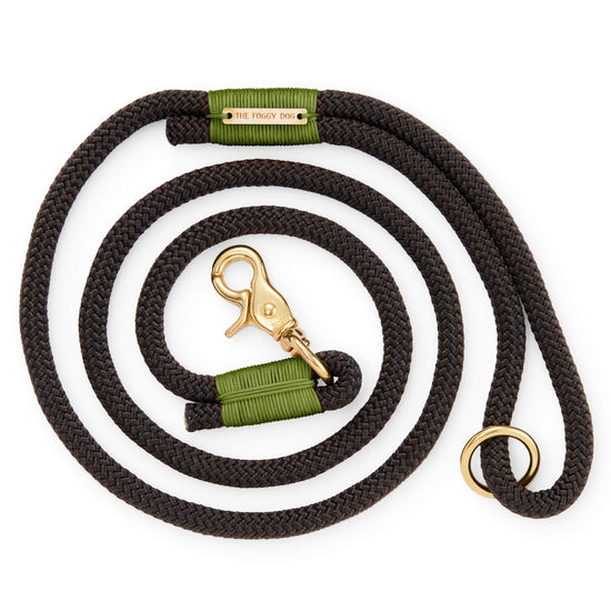 Black and Green Climbing Rope Dog Leash from The Foggy Dog