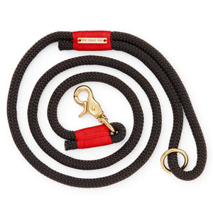 Black and Red Climbing Rope Dog Leash from The Foggy Dog