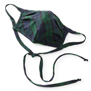 Black Watch Plaid Reusable Face Mask from The Foggy Dog
