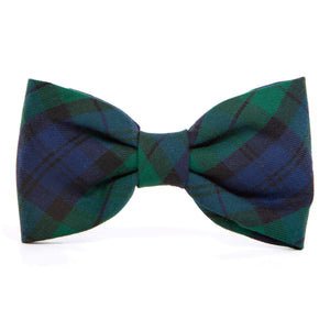 Blackwatch Plaid Dog Bow Tie from The Foggy Dog