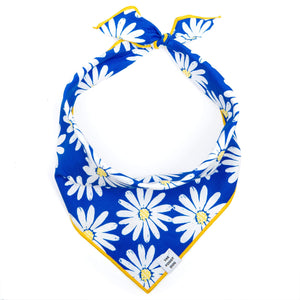 Blue Daisies Dog Bandana from The Foggy Dog