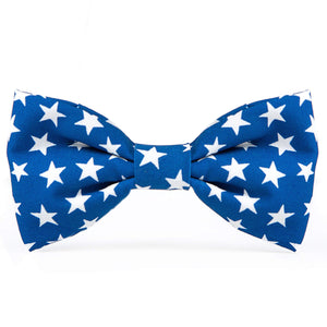 Blue Stars Dog Bow Tie from The Foggy Dog