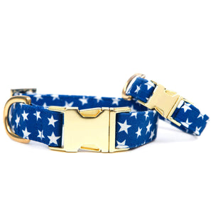 Blue Stars Dog Collar from The Foggy Dog