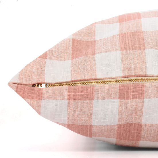Blush Pink Gingham Check Dog Bed from The Foggy Dog