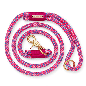 Bright Fuchsia Climbing Rope Dog Leash from The Foggy Dog
