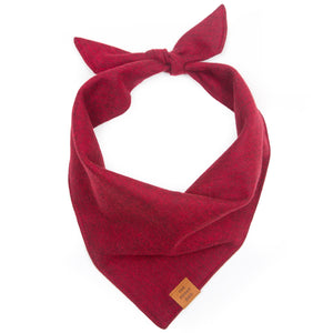Burgundy Flannel Dog Bandana from The Foggy Dog