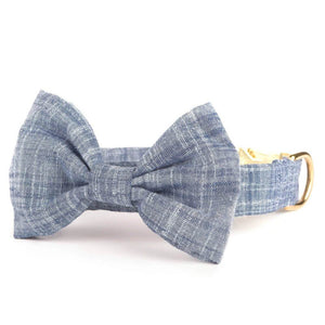 Chambray Bow Tie Collar from The Foggy Dog