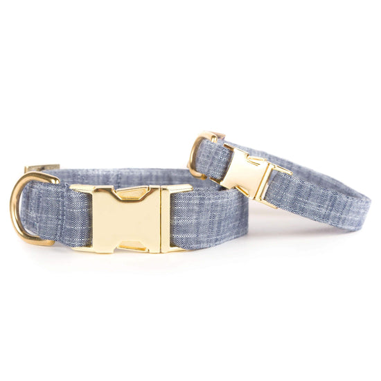 Chambray Dog Collar from The Foggy Dog