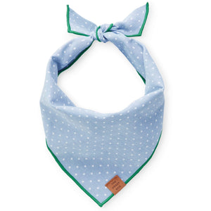 Chambray Dots Dog Bandana from The Foggy Dog