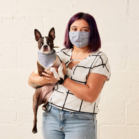 Chambray Face Mask and Bandana Set from The Foggy Dog